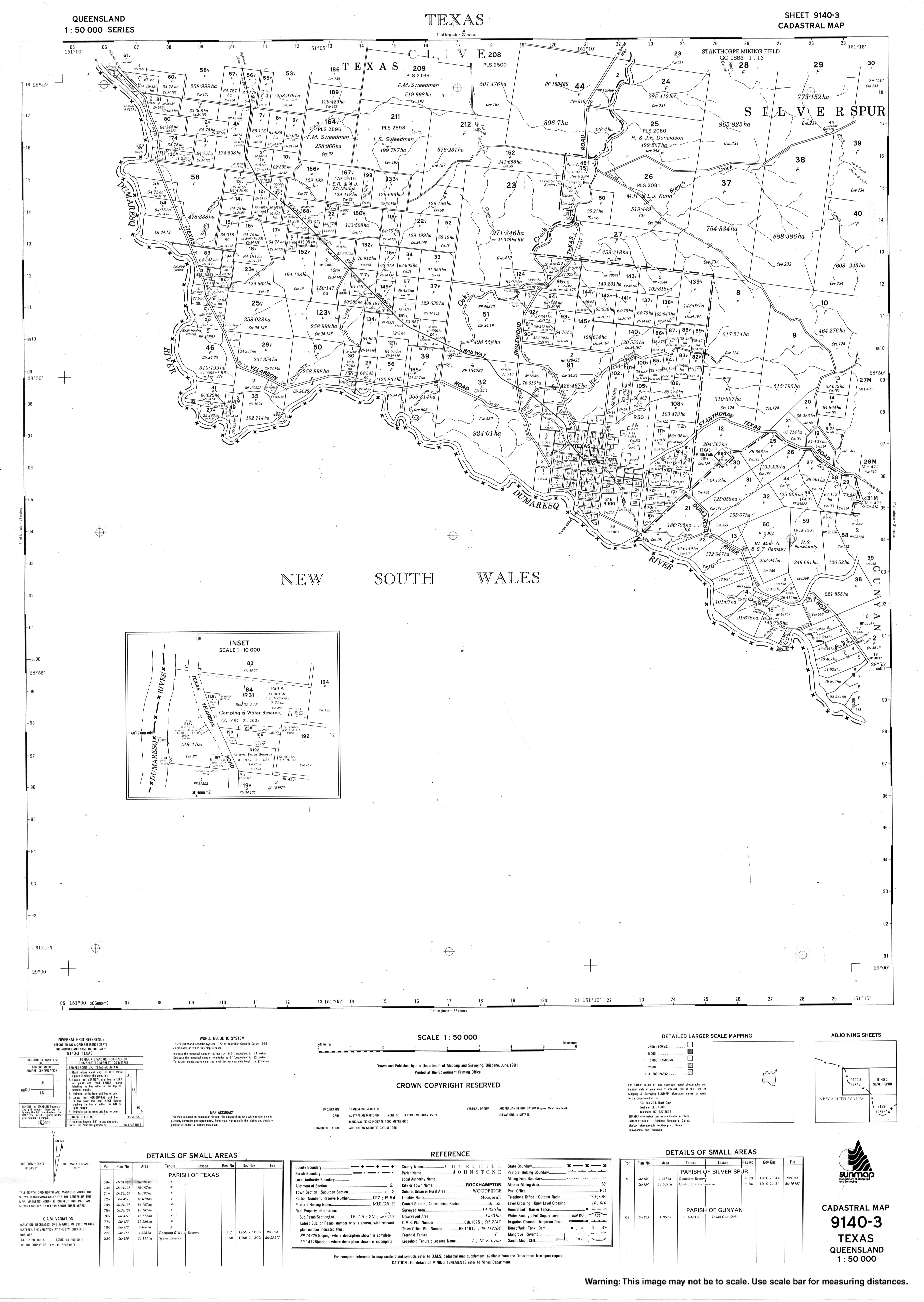 Map Of Texas Qld.Historical Cadastral Map Series Queensland 1 50000 Series 1972